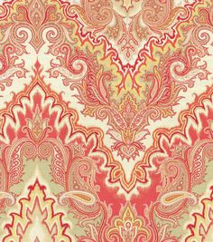 A traditional paisley home décor fabric with elegant color combination, perfect for mix and match applications, easily complement any design theme you have at home. Content: 100% Cotton Width: 54 Inch