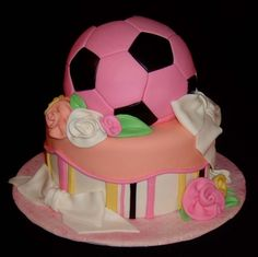 Girl's Soccer Cake-It is almost August 22nd-it still brings tears to my eyes-Deana would have been 27- www.adealwithGodbook.com