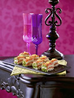 Smoked salmon, herb and cream cheese stacks  http://www.olivemagazine.com/lulusnotes/smoked-salmon-herb-cream-cheese-stacks/#more-7694