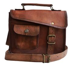 Jaald- Stylish Men's Genuine Leather Brown Shoulder Messenger Passport Bag Murse Sling Bag Leather Bag Cross Body Bag Man Purse notebook bag Large * Wow! I love this. Check it out now! : Christmas Luggage and Travel Gear