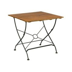 Terrace Folding Table By Jameson Seating Wood Folding Table, Counter Height Dining Table, Square Tables, Acacia Wood, Outdoor Furniture, Outdoor Decor, Dining Room, Garages, Terrace