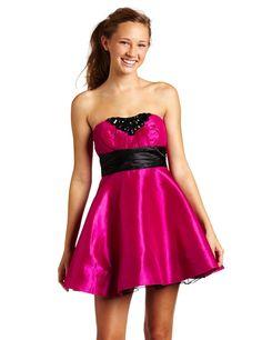 Trixxi Juniors Taffeta Dress