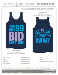 Phi Mu Bid Day Tanks. Okay, we love this design! Get your bid day tanks from The Image Collection. Email info@theimagecollectioninc.com for your free proof!