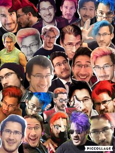 Markiplier collage by - emmacipherhatake<<< The color of his hair has changes so much. I ain't complaining though, I've changed my hair color at least 4-5 times.