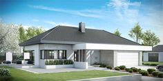 Find home projects from professionals for ideas & inspiration. Projekt domu HomeKONCEPT 38 by HomeKONCEPT Home Building Design, Home Design Plans, Building A House, Modern Family House, Modern House Plans, Bungalow House Design, Modern House Design, Beautiful House Plans, Beautiful Homes