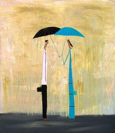 "#Art Felipe Gimenez ""Disfrutando de la misma lluvia"" Umbrella Art, Umbrellas, Valencia, Painting, Image, Design, The World, Art Projects, Art Kids"