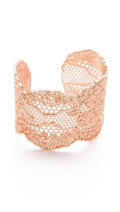 rose gold lace cuff