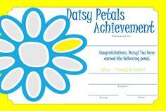 Girl Scout Daisy - Certificate: Sunny Petal