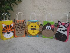 Jungle Animal Birthday Party Favor Bag by christinescritters
