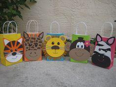 Bolsa a Favor fiesta de cumpleaños Animal de por christinescritters