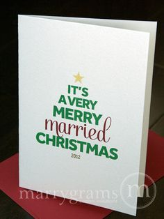 our first christmas as mr and mrs card just married christmas