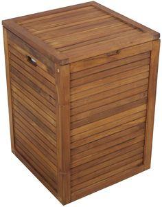 Details About Hamper Bench With Cushion Teak Bathroom