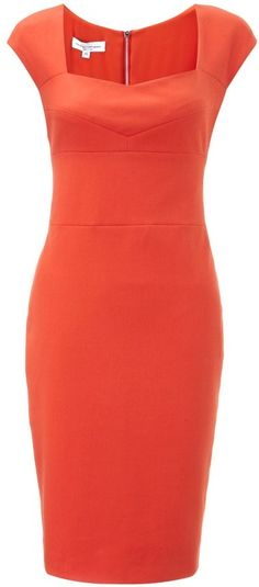 Narciso Rodriguez Coral Cotton Pencil Dress on shopstyle.com