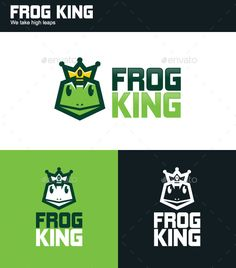 Frog King Logo - Animals Logo Templates