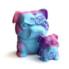 Danger Dog Cotton Candy Set of 2 vinyl figures Vinyl Toys, Vinyl Art, Dead Hand, Lifelong Friends, Designer Toys, Vinyl Figures, Piggy Bank, Cotton Candy, Swirls