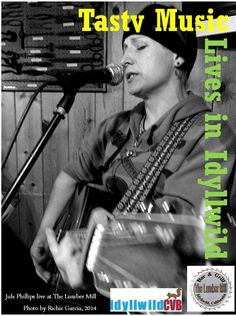 """Local musician, """"Juls,"""" jamming at a local favorite The Lumber Mill."""