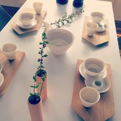Use our Cutting Boards as nice alternative tableware accessories. Decorate the table with the collect vases! ferm LIVING Cutting Boards - http://www.fermliving.com/webshop/shop.aspx?eComSearch=True&ID=14&eComQuery=Cutting+Board+-