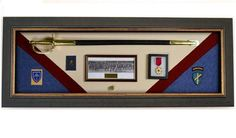 Military Display Case Wall Mounted Shadow Box Wood Display Case