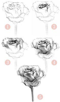 Forma de realizar una rosa.