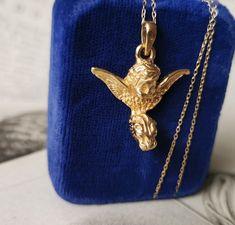 10 x Pendant Angel Gold 13 x 13 mm