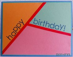 birthday card (inspired by colorblock fashion trend)