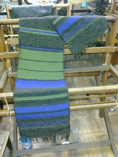 My first weave ever:) Scarf - cotton warp and wool weft, weft-faced