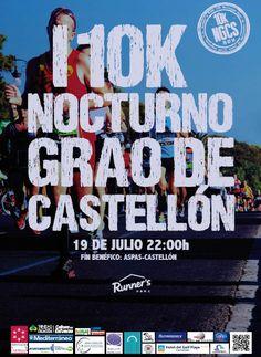 Primera carrera 10K nocturna en #GraoCastellon. En JULIO, el 19 Más info http://bit.ly/1js24YP