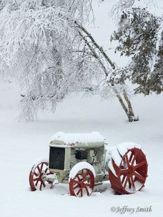 Vintage tractor in the Winter - Sussex County, New Jersey