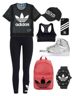 """Sports"" by lizz-med ❤ liked on Polyvore featuring adidas Originals and adidas"
