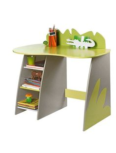 Nursery desk GREEN LIGHT SOLID WITH DESIGN