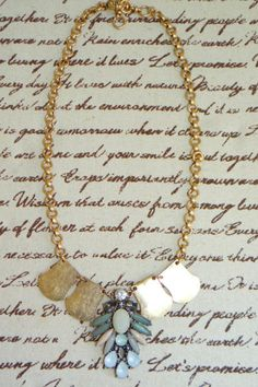 Muted Blue Pendant necklace