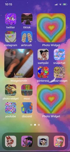 Ios App Icon, Iphone Layout, Iphone Pro, Phone Organization, Indie Kids, Indie Outfits, Homescreen, Image Sharing, Cute Wallpapers