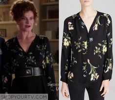 Devious Maids: Season 3 Episode 10 Evelyn's Floral Print Blouse