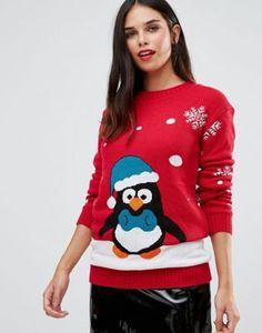 Club L Dancing Penguin Christmas Jumper