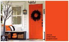 benjamin moore orange colors   colours of the day * orange front door