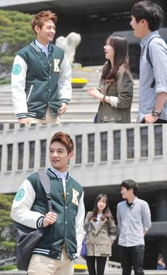 Minho becomes a cool sunbae as a model for Konkuk University