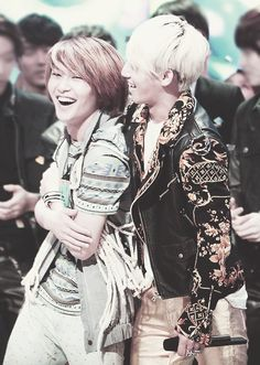 Daesung and Onew... my BigBang bias and my ultimate bias....... if they made a duet, my heart would just stop beating.