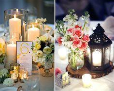 centros de mesa velas