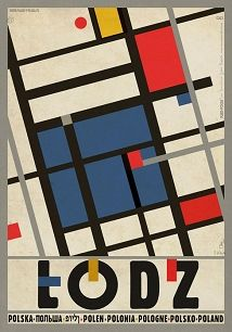 Ryszard Kaja - Łódź, polski plakat turystyczny