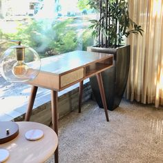 Mid Century Modern Desk, Desk With Drawers, Barn Wood, Mid-century Modern, Dining Table, Furniture, Design, Home Decor, Decoration Home
