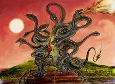 Картинки по запросу шестиглавый змей