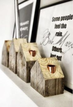 wooden candleholder by AnyTHING, old pallets decor diy candle holders Diy Projects To Try, Wood Projects, Wooden Crafts, Diy And Crafts, Deco Rose, Wooden Candle Holders, Ideias Diy, Old Pallets, Diy Holz