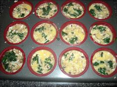 2 cups Eggbeaters (1 lean) 4 oz low fat mozzarella cheese (1 lean) 1/2 cup mushrooms (1 green) 1 cup spinach (1 green) Preheat oven to ...