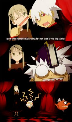 Soul Eater, 'Maka-chop' Hahaha :D :D And we know it IS Maka xD