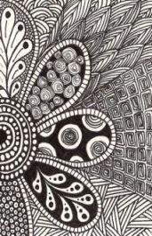Art inspiration ideas sketches doodles zentangle patterns Ideas for 2019 Dibujos Zentangle Art, Zentangle Drawings, Doodles Zentangles, Zentangle Patterns, Doodle Drawings, Easy Zentangle, Doodle Patterns, Doodle Designs, Flower Patterns