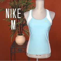 Nike Performance Mint Workout Top Medium Very gently with excellent condition Nike Performance Mint Workout Top Medium  CHEST: 16 1/2-18 1/2 stretched LENGTH: 14 in from underarm to bottom Nike Tops
