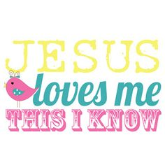 i should be mopping the floor: Friday's Freebie: Jesus Loves & Knows Me
