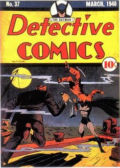 Detective Comics # 37 >>> Rather good, atmospheric cover for such an early issue.