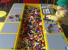 lego table. piano hinge so table can fold in?
