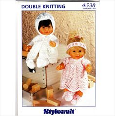 "4538 Stylecraft Knitting Pattern Baby Doll Clothes DK 12"" 30cm"